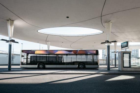 Llegada bus eléctrico