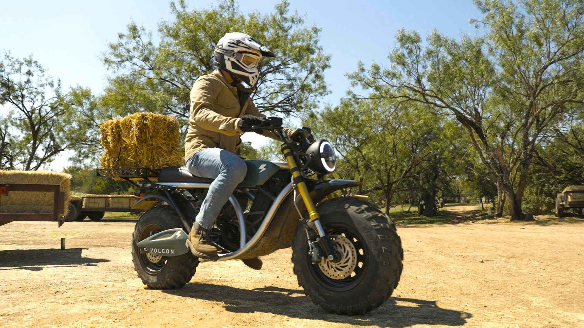 Motocicleta eléctrica todoterreno Volcon Grunt