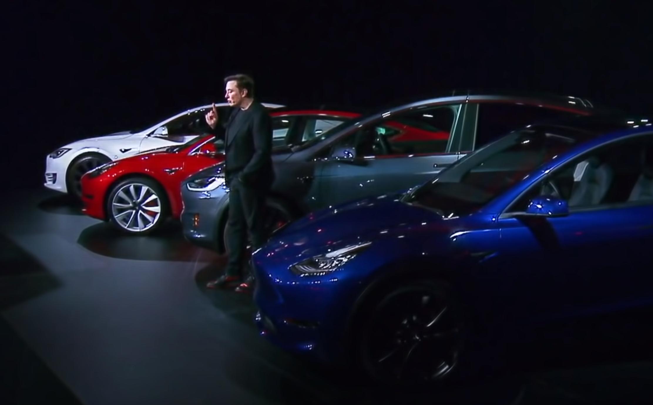 captura de pantalla del evento de revelación del Model Y